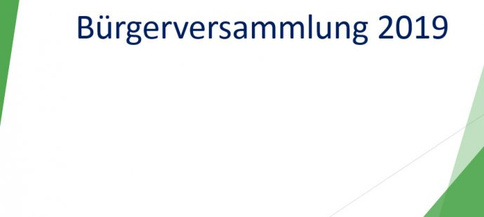Bürgerversammlungen 2019