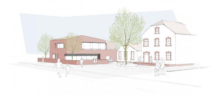 Baufortschritt des Kindergartens Dörndorf