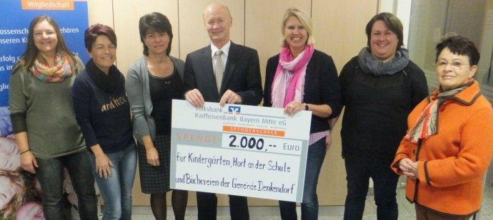 Spende der Volksbank Raiffeisenbank Bayern Mitte